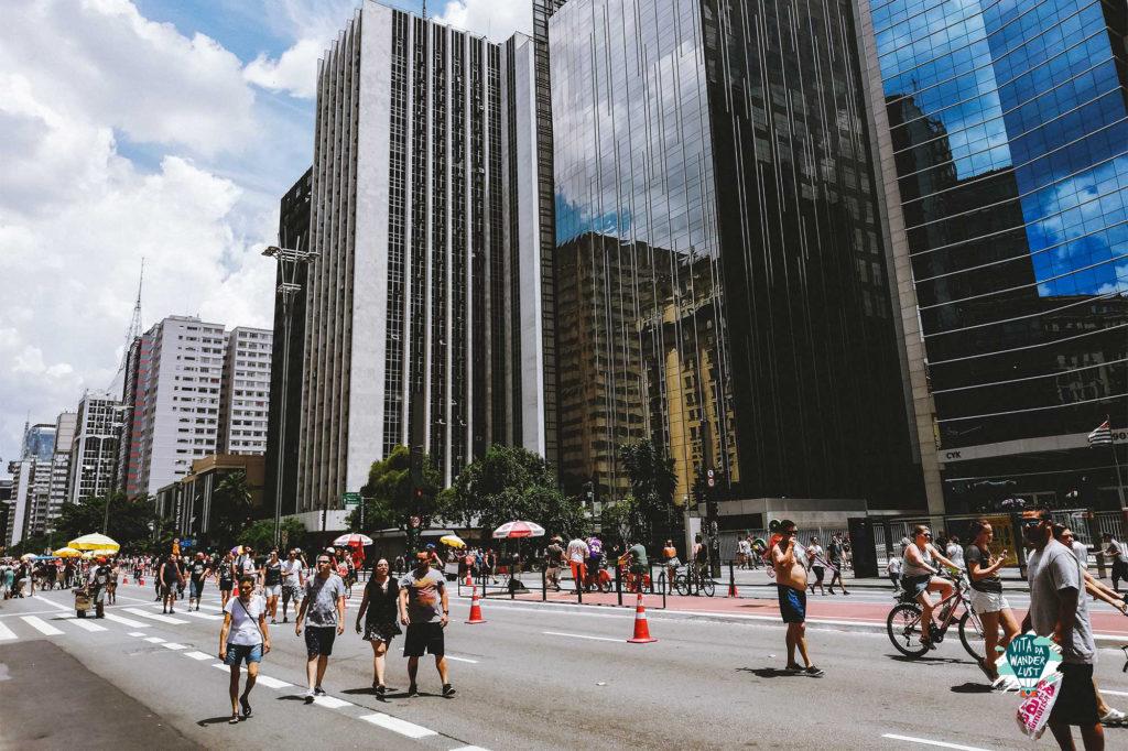 L'Avenida Paulista la domenica diventa pedonale