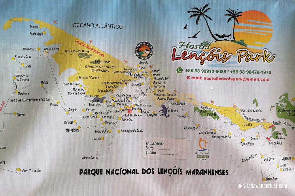 Mappa Lençóis Maranhenses