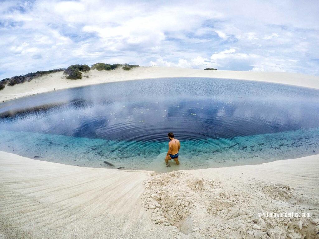 Un tuffo nella Lagoa Preguiça - Lençóis Maranhenses