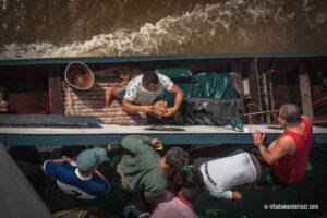 Vendita di gamberetti - Amazzonia