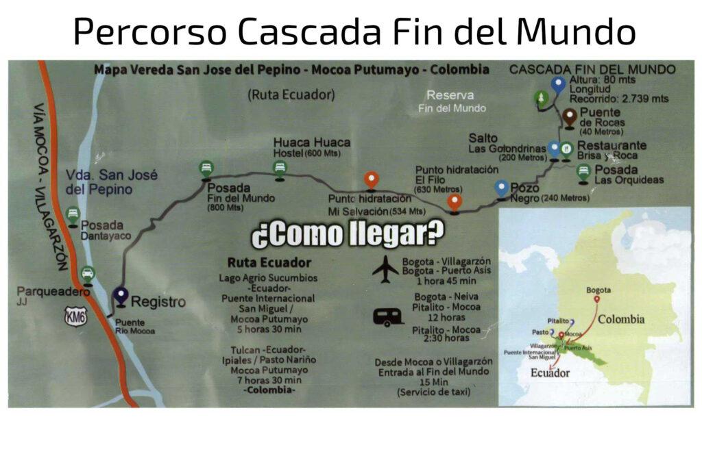 Mappa Cascada Fin del Mundo